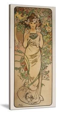The Flowers: La Rose by Alphonse Mucha