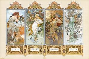 The Four Seasons by Alphonse Mucha