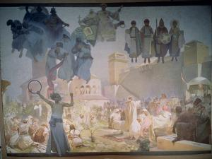 The Introduction of the Slavonic Liturgy, from the 'Slav Epic', 1912 by Alphonse Mucha