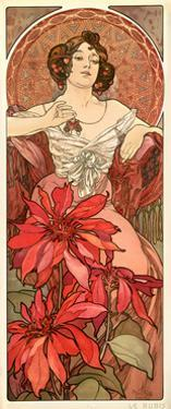 The Precious Stones: Ruby, 1900 by Alphonse Mucha