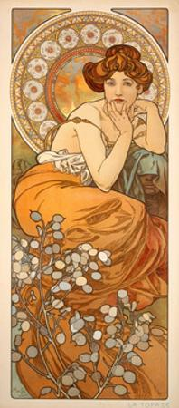 The Precious Stones: Topaz, 1900 by Alphonse Mucha