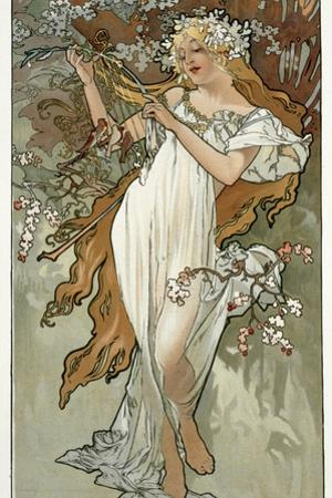 The Seasons: Spring, 1896 by Alphonse Mucha