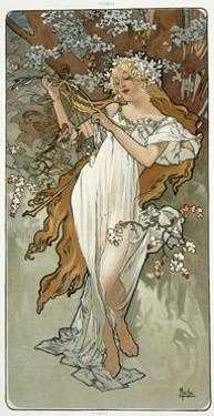 The Seasons: Spring, 1896 by Alphonse Mucha