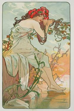 The Seasons: Summer, 1896 by Alphonse Mucha