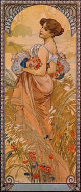 The Seasons: Summer, 1900 by Alphonse Mucha