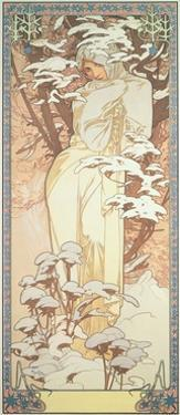 The Seasons: Winter, 1900 by Alphonse Mucha