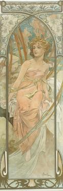The Times of the Day: Morning Awakening by Alphonse Mucha