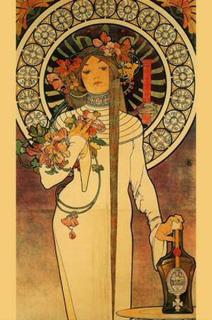 Trappistine Liquors by Alphonse Mucha