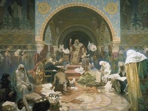 Tsar Simeon of Bulgaria (R.893-927), from the 'slav Epic', 1928 by Alphonse Mucha