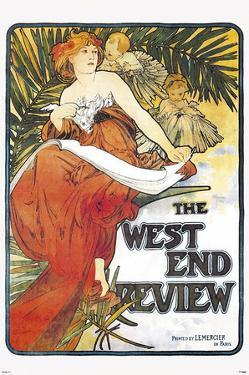 West End Review by Alphonse Mucha