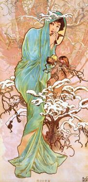 Winter by Alphonse Mucha