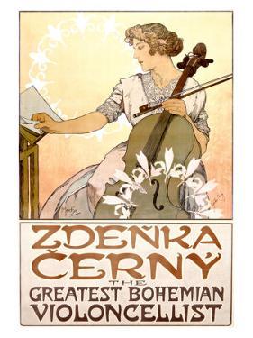 Zdenka Cerny Cello Concert by Alphonse Mucha