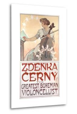 Zdenka Cerny, the Greatest Bohemian Violoncellist, 1913 by Alphonse Mucha