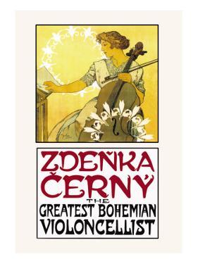 Zdenka Cerny: The Greatest Bohemian Violoncellist by Alphonse Mucha