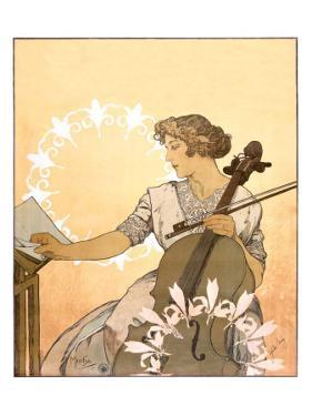 Zdenka Cerny by Alphonse Mucha
