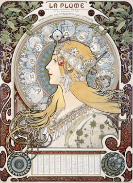 Zodiac le Plume by Alphonse Mucha