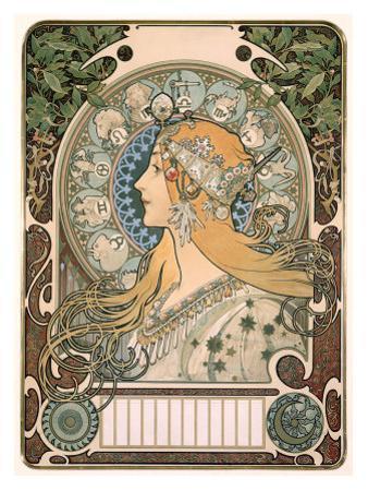 Zodiac by Alphonse Mucha
