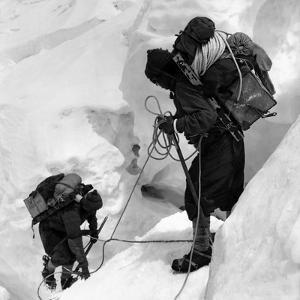 Alpinists Roped Together on the Mount Everest