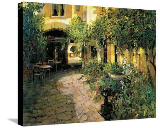 Alsace Courtyard-Philip Craig-Stretched Canvas Print