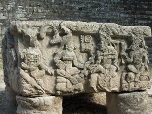 Altar Q, West Court, Copan Archaeological Park, Copan, UNESCO World Heritage Site, Honduras