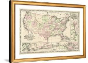 New Military Map of the United States, 1861 by Alvin Jewett Johnson