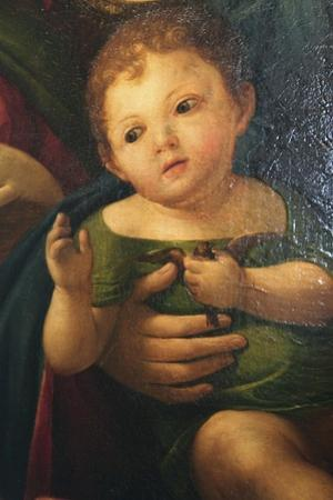 Detail from Madonna and Child with Mary Magdalene, St Catherine, and Two Saints, 1504