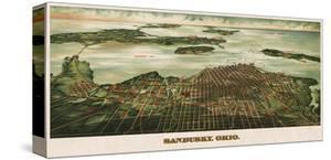 Bird's Eye View of Sandusky, Ohio, 1898 by Alvord Peters Co^