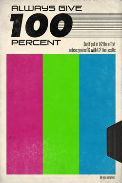 Always Give 100 Percent - VHS Tape