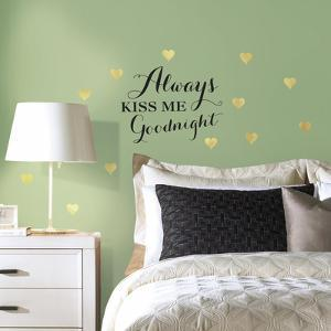 Always Kiss Me Quote Peel and Stick Wall Decals