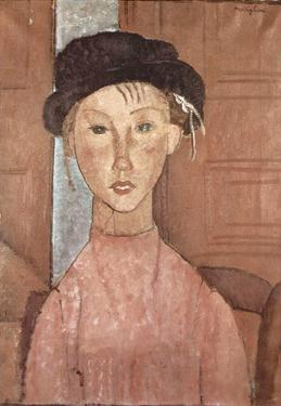 Amadeo Modigliani (Girl with hat) Art Poster Print