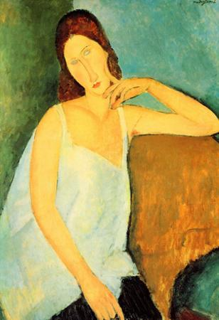 Amadeo Modigliani Portrait of Jeanne Hebuterne 4 Art Print Poster