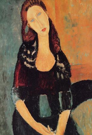 Amadeo Modigliani Portrait of Jeanne Hebuterne 6 Art Print Poster