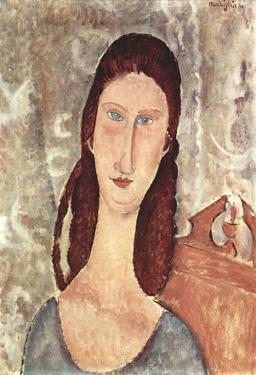 Amadeo Modigliani (Portrait of Jeanne Hébuterne) Art Poster Print