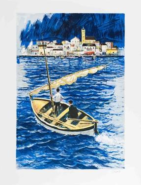 Sailboat in the Port of Cadaques by Amadeu Casals