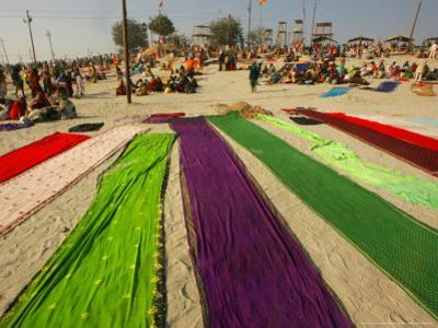 Clothes of Hindu Devotee are Laid out to Dry after Being Drenched During Ritualistic Holy Dips