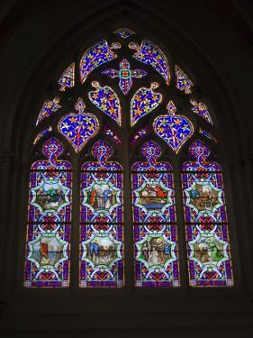 15th Century Stained Glass Window in the Cathedrale St-Corentin, Southern Finistere, France by Amanda Hall