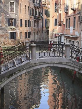 A Quiet Canal, Venice, UNESCO World Heritage Site, Veneto, Italy, Europe by Amanda Hall