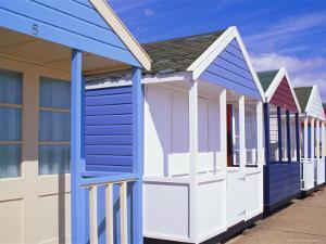 Beach Huts, Southwold, Suffolk, England by Amanda Hall