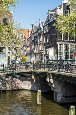 Bridge over Brouwersgracht, Amsterdam, Netherlands, Europe by Amanda Hall