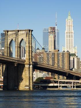 Brooklyn Bridge and Manhattan Skyline, New York City, New York, USA by Amanda Hall