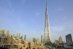 Burj Khalifa and City Skyline, Downtown, Dubai, United Arab Emirates, Middle East by Amanda Hall