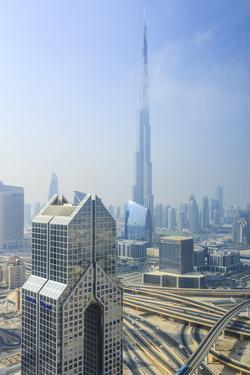 Burj Khalifa and City Skyline, Downtown, Dubai, United Arab Emirates, Middle East by Amanda Hall