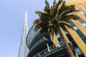 Burj Khalifa and Dubai Mall, Dubai, United Arab Emirates, Middle East by Amanda Hall