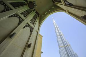 Burj Khalifa and Souk Al Bahar, Dubai, United Arab Emirates, Middle East by Amanda Hall