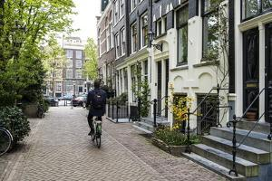 Canalside Houses, Amsterdam, Netherlands, Europe by Amanda Hall