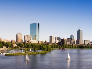 City Skyline and Charles River, Boston, Massachusetts, USA by Amanda Hall
