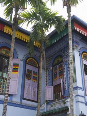 Colourfully Painted Building in Little India, Singapore, Southeast Asia by Amanda Hall