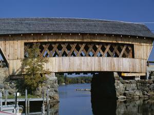 Covered Bridge, Squam Lake, New Hampshire, New England, USA by Amanda Hall