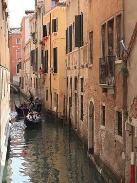 Gondola on a Canal, Venice, UNESCO World Heritage Site, Veneto, Italy, Europe by Amanda Hall