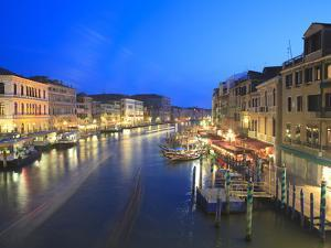 Grand Canal at Dusk, Venice, UNESCO World Heritage Site, Veneto, Italy, Europe by Amanda Hall